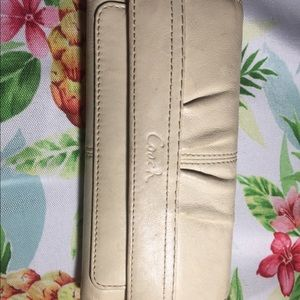 Coach large wallet in cream. Gently used
